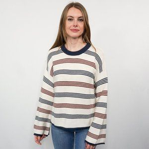 MARINE LAYER Frankie Striped Cotton Knit Sweater